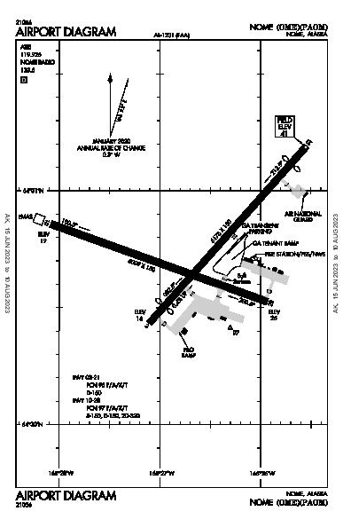 Nome Airport (Nome, AK): PAOM Airport Diagram