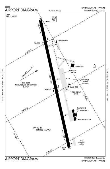 Eareckson As Airport (Shemya, AK): PASY Airport Diagram