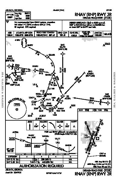 Dekalb-Peachtree Atlanta, GA (KPDK): RNAV (RNP) RWY 03R (IAP)