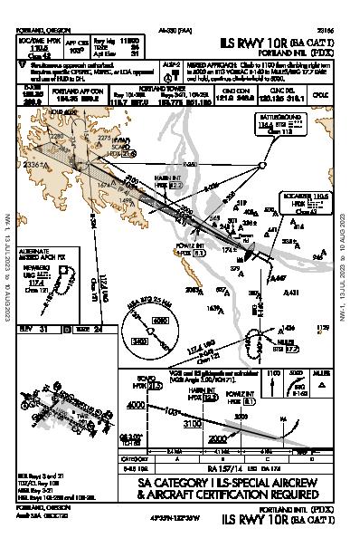 Portland Intl Portland, OR (KPDX): ILS RWY 10R (SA CAT I) (IAP)