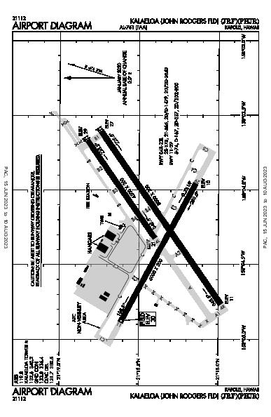 Kalaeloa Airport (Kapolei, HI): PHJR Airport Diagram