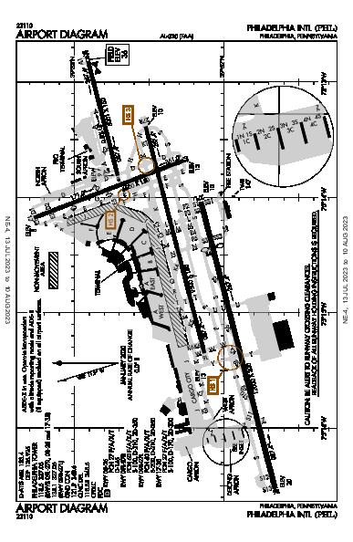 Philadelphia Intl Philadelphia, PA (KPHL): AIRPORT DIAGRAM (APD)