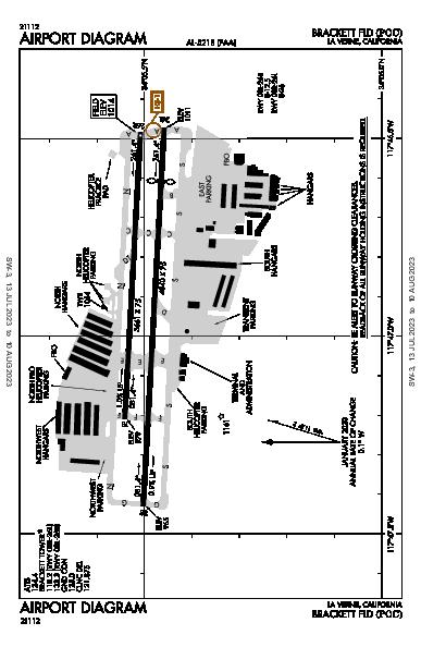 Brackett Fld La Verne, CA (KPOC): AIRPORT DIAGRAM (APD)