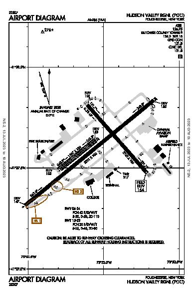 Hudson Valley Rgnl Poughkeepsie, NY (KPOU): AIRPORT DIAGRAM (APD)