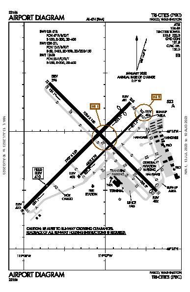 Tri-Cities Pasco, WA (KPSC): AIRPORT DIAGRAM (APD)