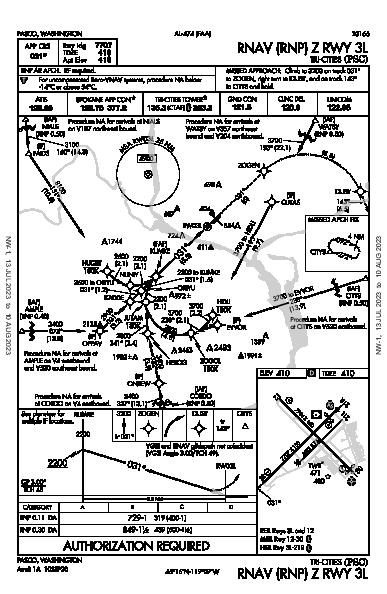 Tri-Cities Pasco, WA (KPSC): RNAV (RNP) Z RWY 03L (IAP)