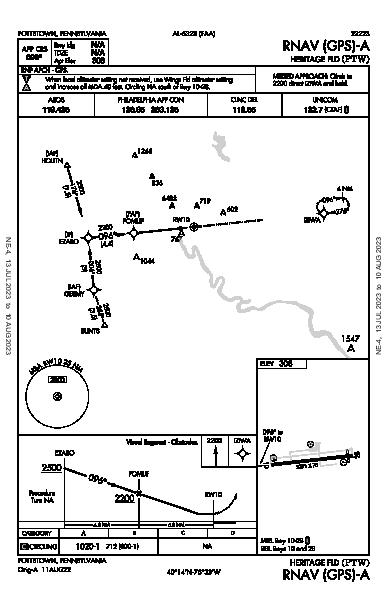 Heritage Fld Pottstown, PA (KPTW): RNAV (GPS)-A (IAP)
