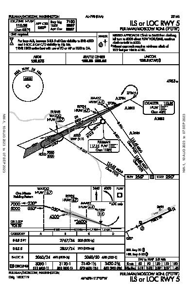 Pullman/Moscow Rgnl Pullman/Moscow, WA (KPUW): ILS OR LOC RWY 05 (IAP)