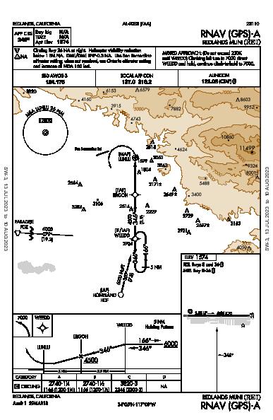 Redlands Muni Redlands, CA (KREI): RNAV (GPS)-A (IAP)