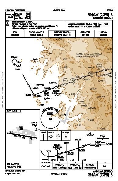 Ramona Ramona, CA (KRNM): RNAV (GPS)-B (IAP)
