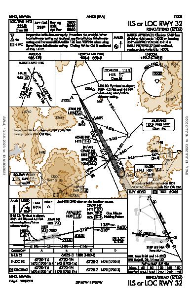 Reno/Stead Reno, NV (KRTS): ILS OR LOC RWY 32 (IAP)