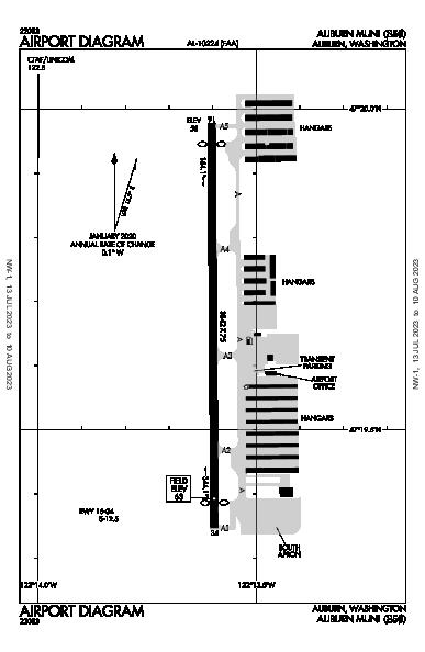 Auburn Muni Airport (Auburn, WA): S50 Airport Diagram
