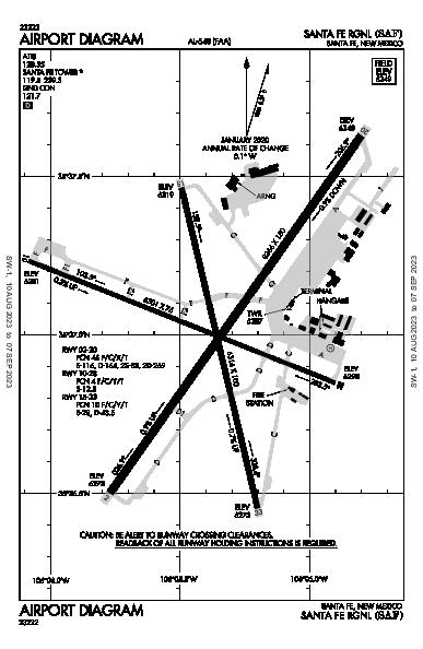 Santa Fe Muni Santa Fe, NM (KSAF): AIRPORT DIAGRAM (APD)