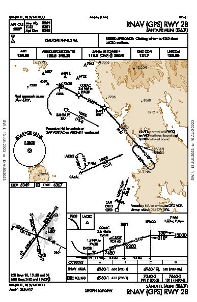 Santa Fe Muni Santa Fe, NM (KSAF): RNAV (GPS) RWY 28 (IAP)