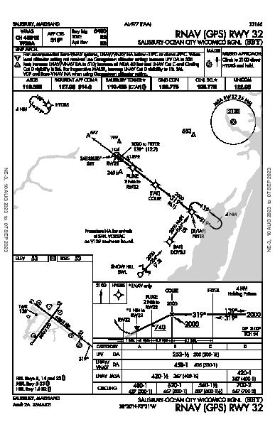 Salisbury Rgnl Salisbury, MD (KSBY): RNAV (GPS) RWY 32 (IAP)