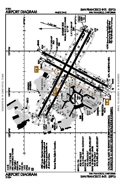 San Francisco Intl San Francisco, CA (KSFO): AIRPORT DIAGRAM (APD)