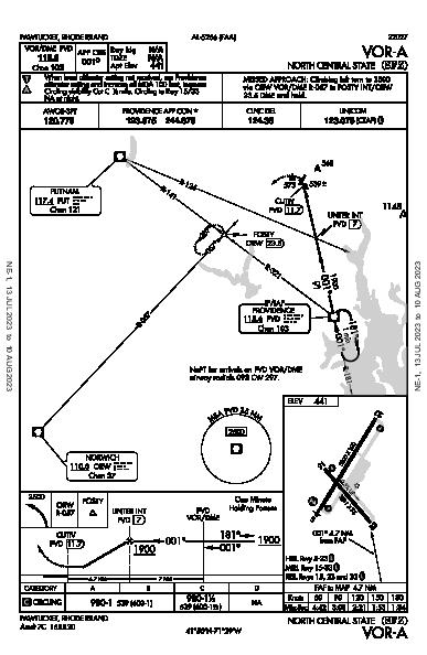North Central State Pawtucket, RI (KSFZ): VOR-A (IAP)