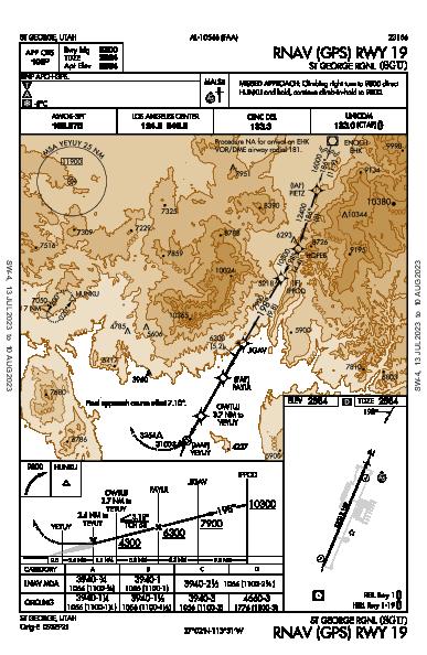 St George Rgnl St George, UT (KSGU): RNAV (GPS) RWY 19 (IAP)