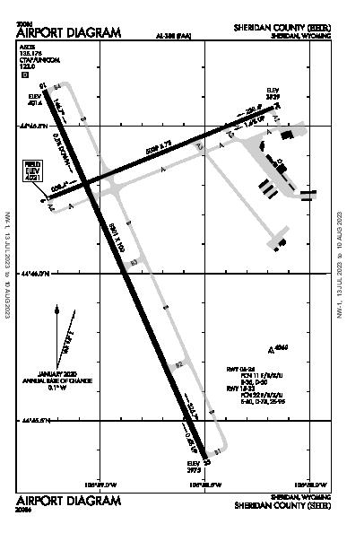 Sheridan County Sheridan, WY (KSHR): AIRPORT DIAGRAM (APD)