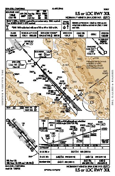 San Jose Int'l San Jose, CA (KSJC): ILS OR LOC RWY 30L (IAP)