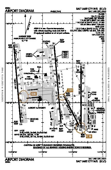 Salt Lake City Intl Salt Lake City, UT (KSLC): AIRPORT DIAGRAM (APD)