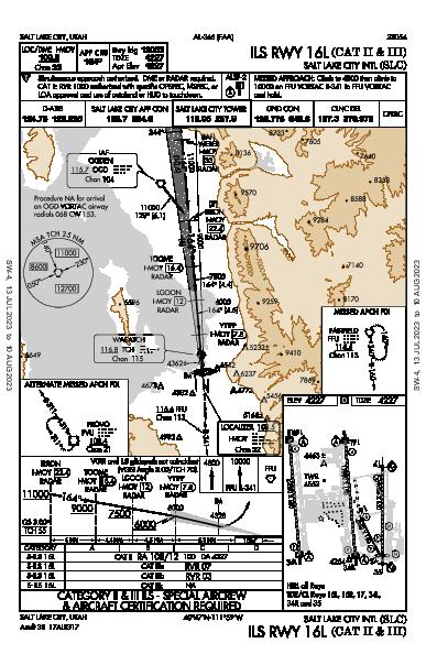 Salt Lake City Intl Salt Lake City, UT (KSLC): ILS RWY 16L (CAT II - III) (IAP)