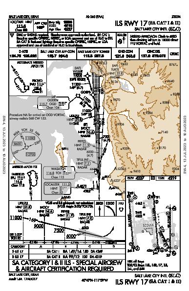 Salt Lake City Intl Salt Lake City, UT (KSLC): ILS RWY 17 (SA CAT I - II) (IAP)