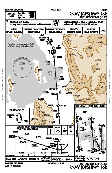 Salt Lake City Intl Salt Lake City, UT (KSLC): RNAV (GPS) RWY 16R (IAP)