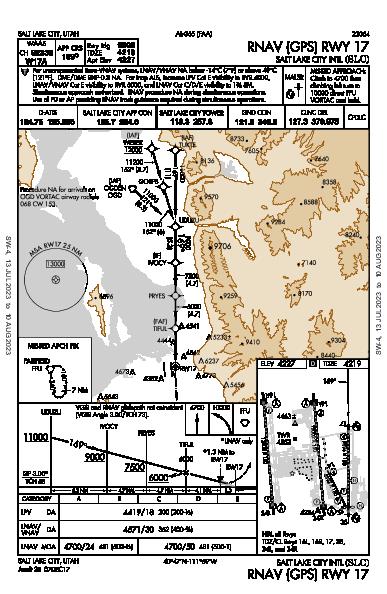 Salt Lake City Intl Salt Lake City, UT (KSLC): RNAV (GPS) RWY 17 (IAP)