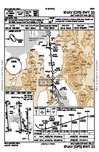 Salt Lake City Intl Salt Lake City, UT (KSLC): RNAV (GPS) RWY 35 (IAP)