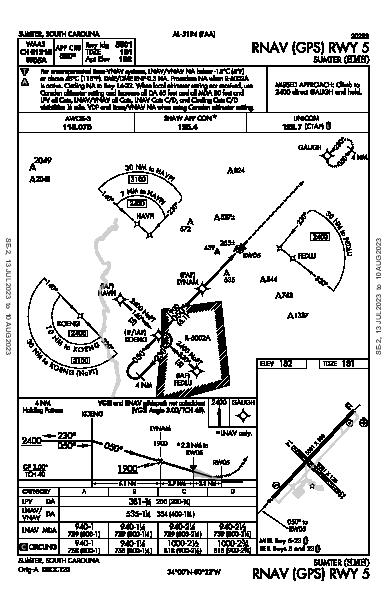Sumter Sumter, SC (KSMS): RNAV (GPS) RWY 05 (IAP)