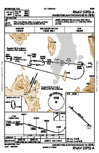Spanish Fork Muni/Woodhouse Fld Spanish Fork, UT (KSPK): RNAV (GPS)-A (IAP)