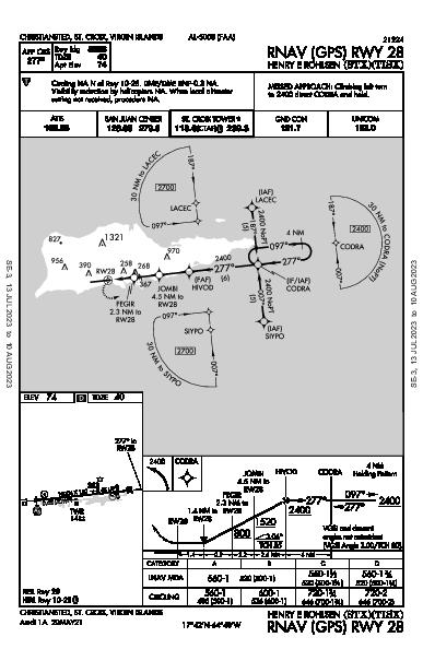 Henry E Rohlsen Christiansted, VI (TISX): RNAV (GPS) RWY 28 (IAP)