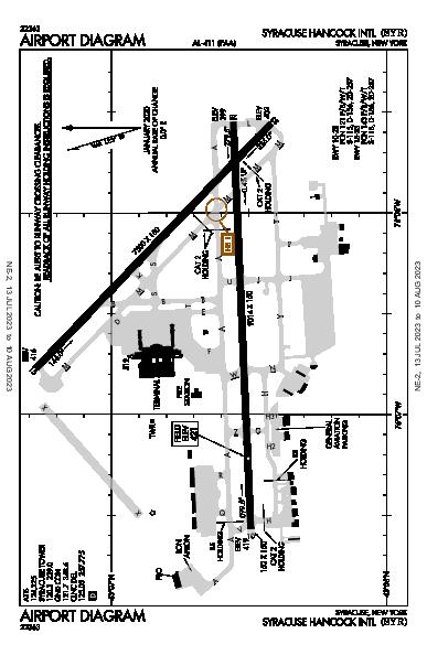 Syracuse Hancock Intl Syracuse, NY (KSYR): AIRPORT DIAGRAM (APD)