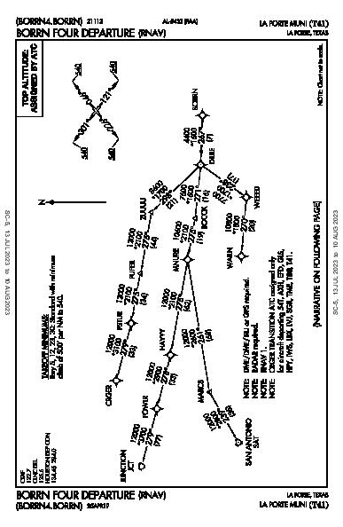 La Porte Muni La Porte, TX (T41): BORRN FOUR (RNAV) (DP)