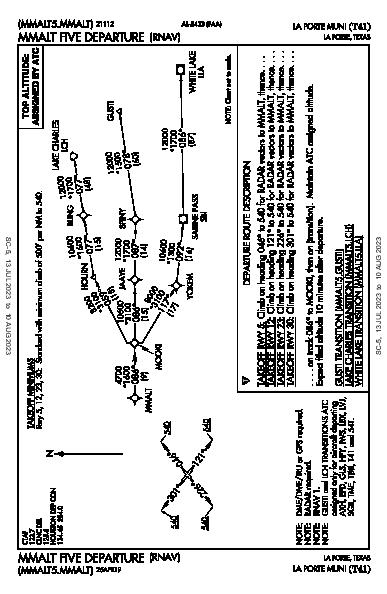 La Porte Muni La Porte, TX (T41): MMALT FIVE (RNAV) (DP)