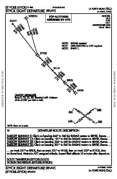 La Porte Muni La Porte, TX (T41): STYCK EIGHT (RNAV) (DP)