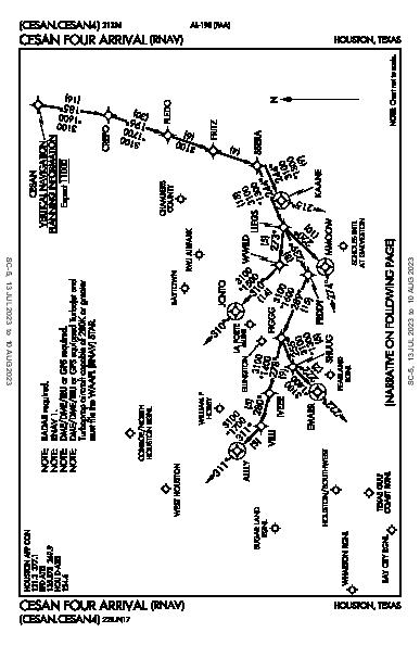 La Porte Muni La Porte, TX (T41): CESAN FOUR (RNAV) (STAR)