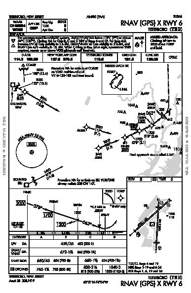 Teterboro Teterboro, NJ (KTEB): RNAV (GPS) X RWY 06 (IAP)