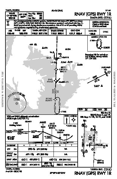 Tampa Intl Tampa, FL (KTPA): RNAV (GPS) RWY 01R (IAP)