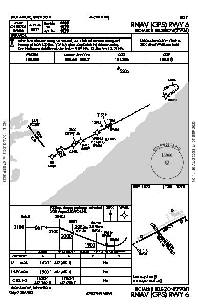 Richard B Helgeson Two Harbors, MN (KTWM): RNAV (GPS) RWY 06 (IAP)