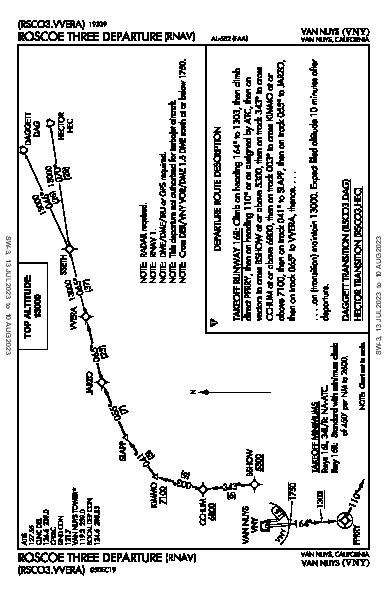 Van Nuys Van Nuys, CA (KVNY): ROSCOE THREE (RNAV) (DP)