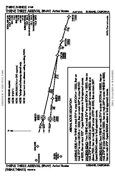 Van Nuys Van Nuys, CA (KVNY): THRNE THREE (RNAV) (STAR)
