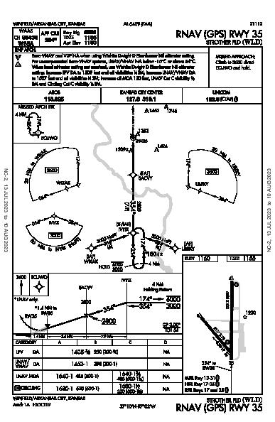 Strother Field Winfield/Arkansas City, KS (KWLD): RNAV (GPS) RWY 35 (IAP)