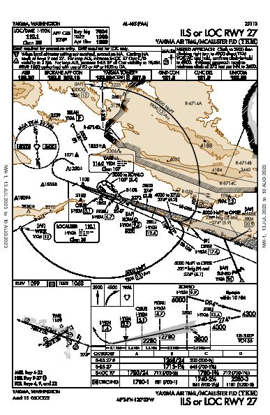 Yakima Air Terminal  Yakima, WA (KYKM): ILS OR LOC RWY 27 (IAP)